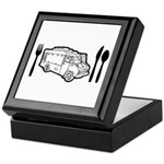 Food Truck Plate & Utensils Keepsake Box