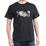 Food Truck Plate & Utensils Dark T-Shirt