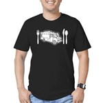 Food Truck Plate & Utensils Men's Fitted T-Shirt (