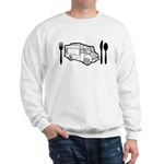 Food Truck Plate & Utensils Sweatshirt