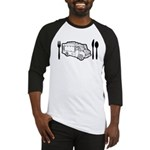 Food Truck Plate & Utensils Baseball Jersey