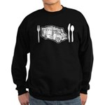 Food Truck Plate & Utensils Sweatshirt (dark)