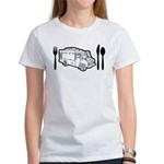 Food Truck Plate & Utensils Women's T-Shirt