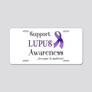 Support Lupus Awareness Aluminum License Plate