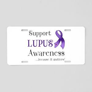 Support Lupus Awareness Aluminum License Plate