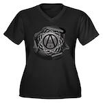 ALF 01 - Women's Plus Size V-Neck Dark T-Shirt
