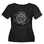 ALF 01 - Women's Plus Size Scoop Neck Dark T-Shirt