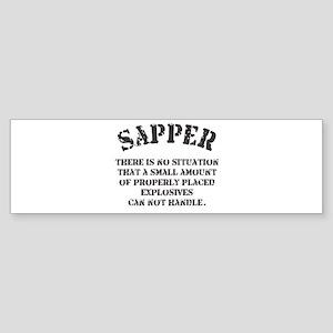 sapper Bumper Sticker