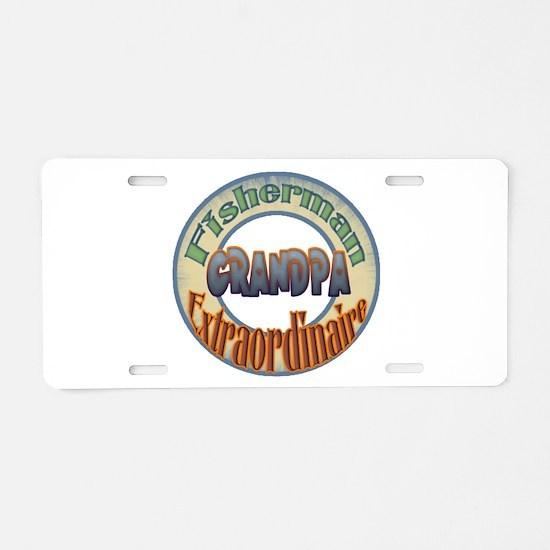 FISHERMAN GRANDPA Aluminum License Plate