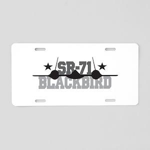 SR-71 Blackbird Aluminum License Plate
