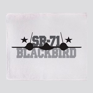 SR-71 Blackbird Throw Blanket