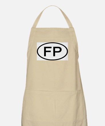 FP - Initial Oval BBQ Apron