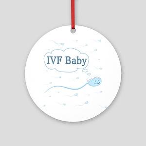 IVF Frozen Sperm Ornament (Round)