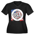 USA Original Women's Plus Size V-Neck Dark T-Shirt