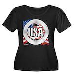 USA Original Women's Plus Size Scoop Neck Dark T-S
