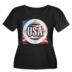 USA Original Women's Plus Size Scoop Neck Dark T-S