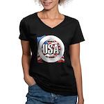 USA Original Women's V-Neck Dark T-Shirt