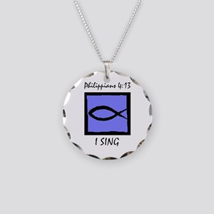 The Christian Singer Necklace Circle Charm