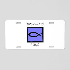 The Christian Singer Aluminum License Plate