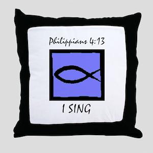 The Christian Singer Throw Pillow