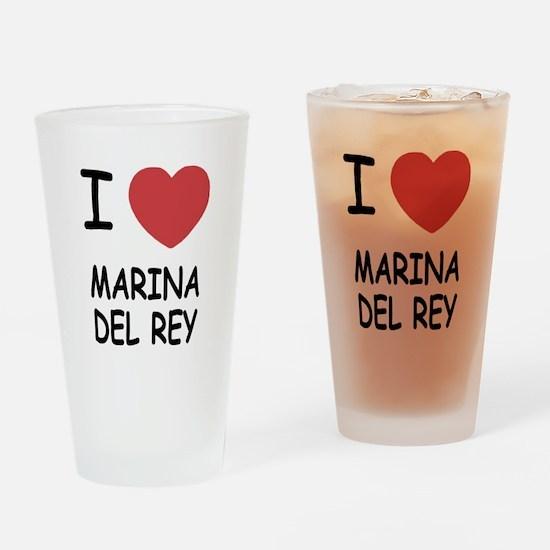 I heart marina del rey Drinking Glass