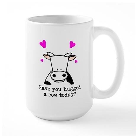 Hug a cow Large Mug