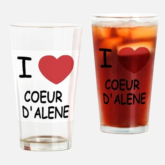 I heart coeur d'alene Drinking Glass
