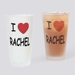 I heart rachel Drinking Glass