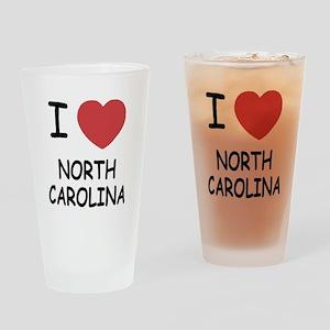 I heart north carolina Drinking Glass