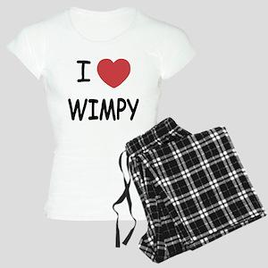 I heart wimpy Women's Light Pajamas