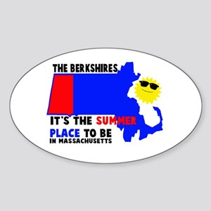 The Berkshires It's the summe Sticker (Oval)
