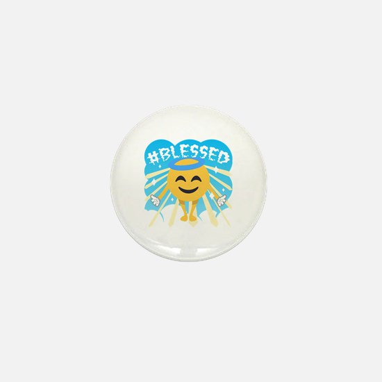 #Blessed Mini Button
