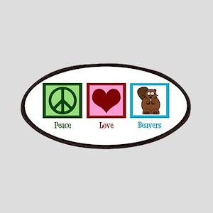 Peace Love Beavers Patch
