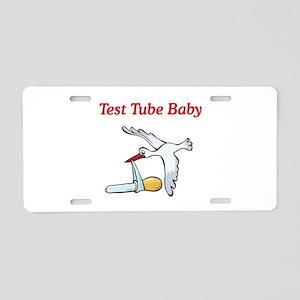 Test Tube Baby Stork Aluminum License Plate