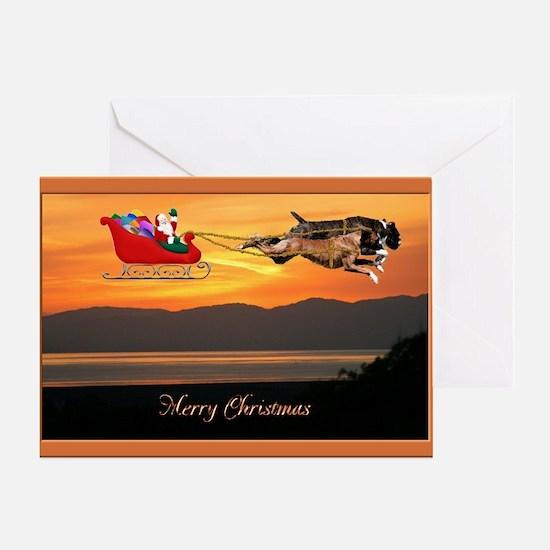 Boxer Christmas Greeting Card