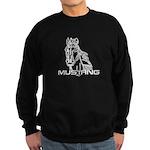 Mustang Horse txt Sweatshirt (dark)