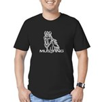 Mustang Horse txt Men's Fitted T-Shirt (dark)