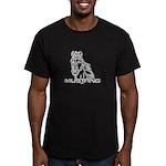 Mustang Horse txt Men's Fitted T-Shirt (dark)