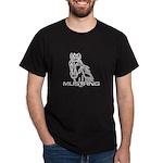 Mustang Horse txt Dark T-Shirt