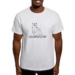 Mustang Horse txt Light T-Shirt