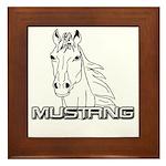 Mustang Horse txt Framed Tile
