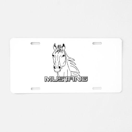 Mustang Horse txt Aluminum License Plate