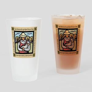 Vegetarian da Vinci Quote Drinking Glass
