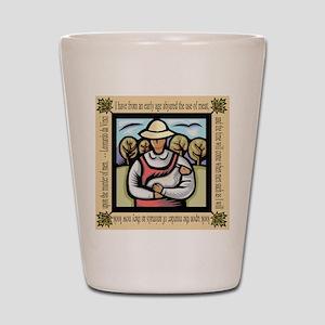 Vegetarian da Vinci Quote Shot Glass