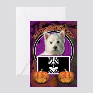 Just a Lil Spooky Westie Greeting Card