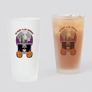 Just a Lil Spooky Weimie Drinking Glass