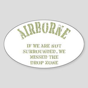 Airborne Sticker (Oval)