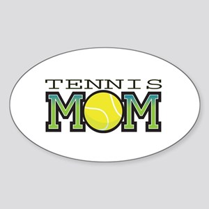 Tennis Mom Oval Sticker