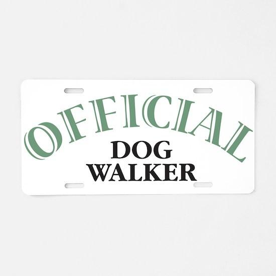 Dog Walker Aluminum License Plate