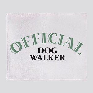 Dog Walker Throw Blanket